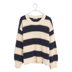 NWT Madewell Striped Lakeville Pullover Sweater